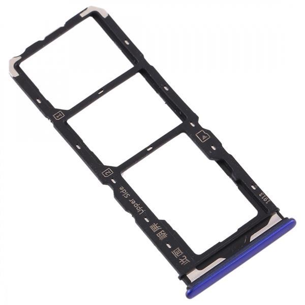 SIM Card Tray + SIM Card Tray + Micro SD Card Tray for Vivo  Y7s(Purple) Vivo Replacement Parts Vivo Y7s