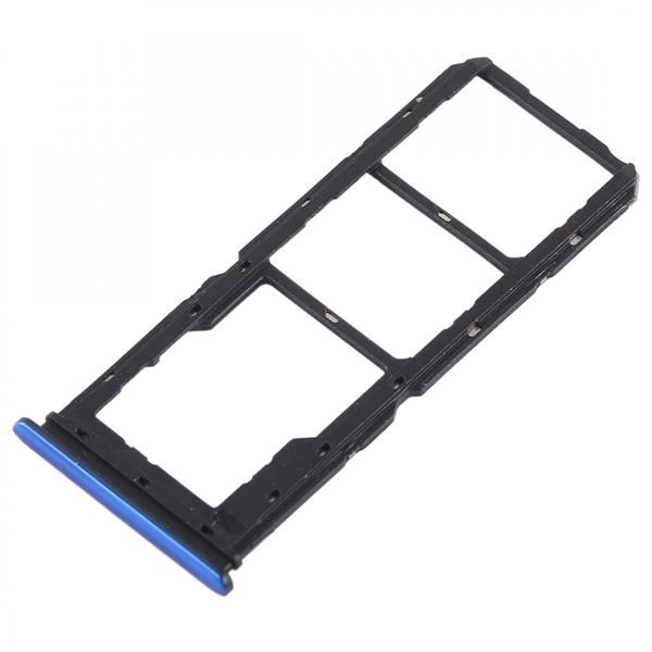 2 x SIM Card Tray + Micro SD Card Tray for Vivo Y97(Blue) Vivo Replacement Parts Vivo Y97