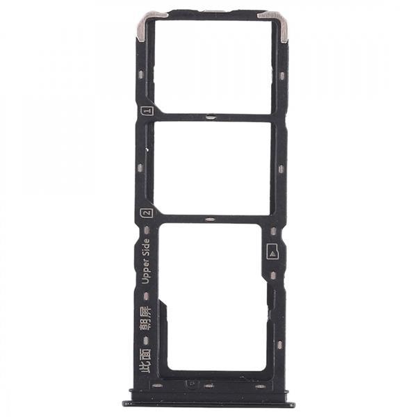 2 x SIM Card Tray + Micro SD Card Tray for Vivo Y93(Black) Vivo Replacement Parts Vivo Y93