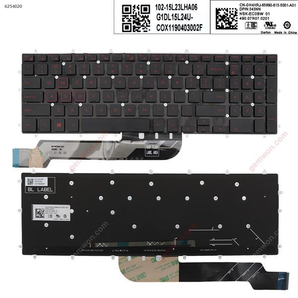 DELL Inspiron Gaming 15-7566  BLACK(Backlit,Red Printing,Win8) US PK131QP2B00 Laptop Keyboard ( )