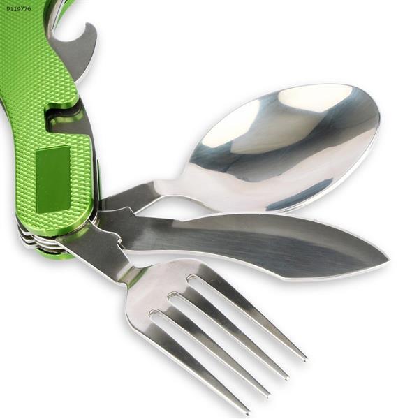 JAKEMY PJ-1009 Outdoor Folding Tableware Knife Fork Spoon Camping Tool Repair Tools N/A