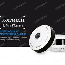 EC11-I6 Network panoramic camera, The maximum local storage support TF Card 128G mobile phone, APP control, infrared night vision, alarm function, and 1280*720P video output, White IP Cameras EC11-I6 NETWORK PANORAMIC CAMERA