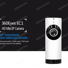 EC2-G2 Network panoramic camera, The maximum local storage support TF Card 128G mobile phone, APP control, infrared night vision, alarm function, and 1280*720P video output, Silver IP Cameras EC2-G2 Network panoramic camera