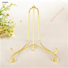 Iron Display Stand,Iron Easel Plate Display Photo Holder Stand, Displays Picture Frames, Cookbooks, Decorative Plates, Tablets and Art 8 Inch, Gold Iron art NA