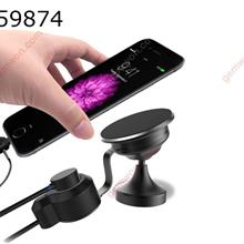 Charging Car Phone Holder  Non Magnetic Car Phone Holder IOS/ Type C/ Android Magnetic USB Charging Data Cable Holder Other QB