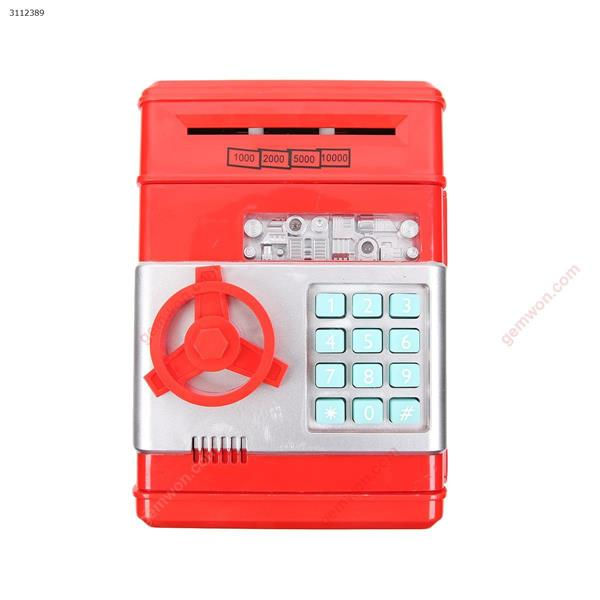Smart password lock child piggy bank safe, red Electronic Digital ATM PIGGY BANK