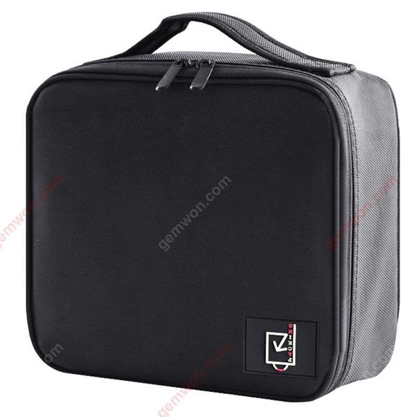 Professional partition portable cosmetic bag Small portable Simple tattoo cosmetic travel large size storage bag (black) Measuring & Testing Tools WD-XN