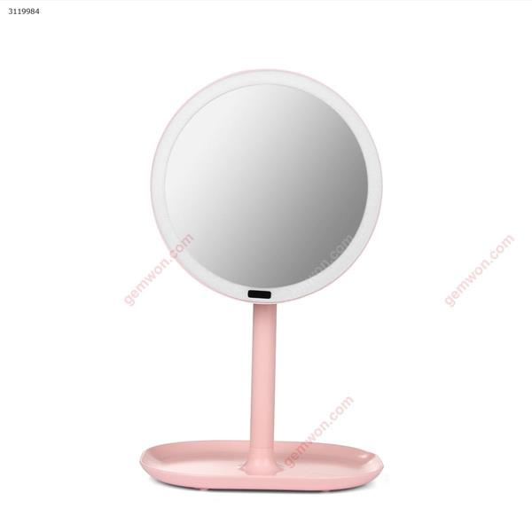 Rechargeable Motion Sensor Light Mirror Led Makeup Mirror Rotation Infrared Induction Makeup Mirror Battery Operated or USB ,pink Measuring & Testing Tools INFRARED SENSOR LED MIRROR