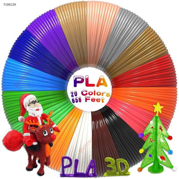 3D Pen Filament Refills(20 Colors,32Feet Each) Total 656Feet,PLA Filament 1.75mm,PLA 3D Printing Pen Filament 3D Pen For Kids,No Stuck, Non-toxic and Odorless,Not Fit for 3Doodler Pen 3D Printing Pen N/A