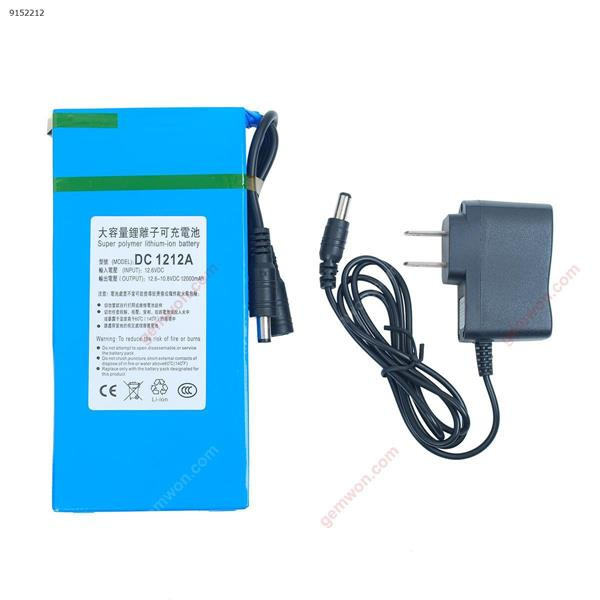 DC 12V 12000mAh Super Rechargeable Portable Lithium - ion Battery Pack Other DC1212A