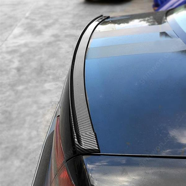 Universal soft spoiler free punching carbon rubber tail spoiler PU carbon brazing DIY refit spoiler suitable for all type of car Other PU
