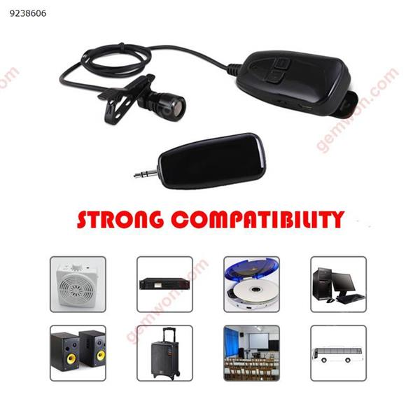 2.4G Wireless Microphone Lapel Clip Microphone Rechargeable Voice Amplifier automatic pairing Mic for conference teaching class microphone 无