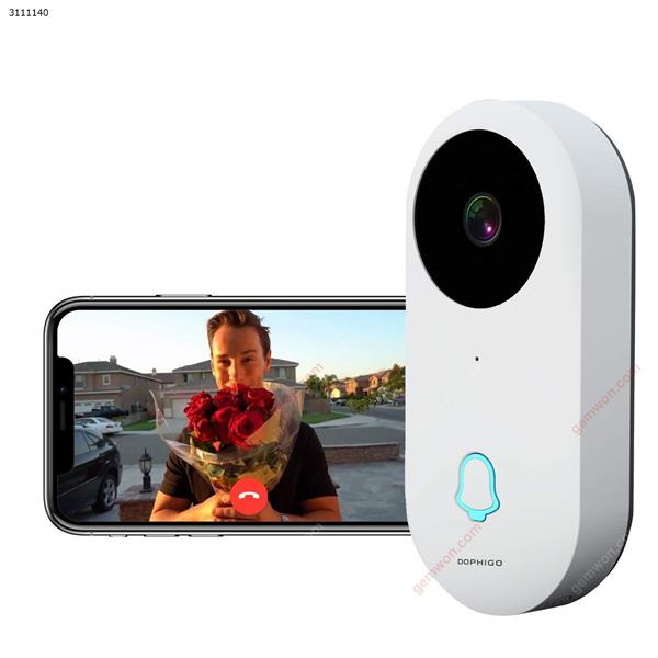 Wi-Fi Enabled Smart Video Camera Wireless Doorbell Button Chime (1 Base) Intelligent anti-theft N/A