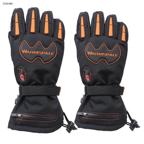 Outdoor ski riding electric gloves charging five fingers high heat warm waterproof gloves(Black) Ski  skating equipment 840