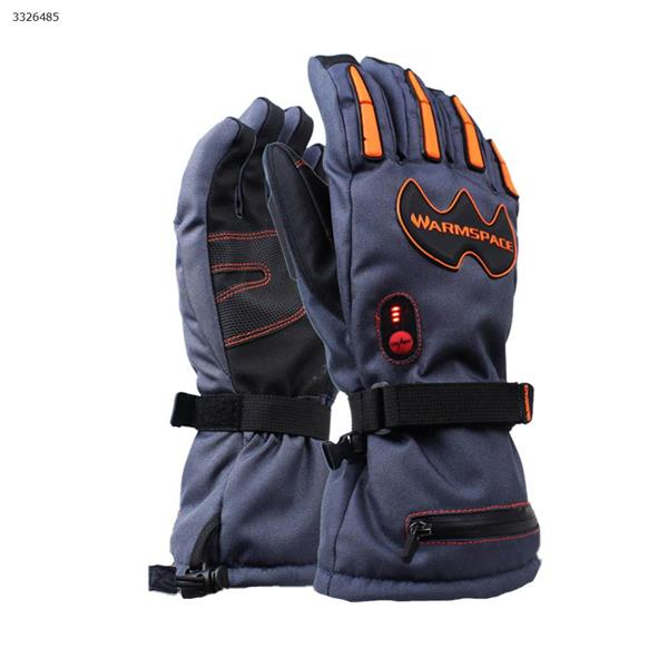 Outdoor ski riding electric gloves charging five fingers high heat warm waterproof gloves(Khaki) Ski  skating equipment 840