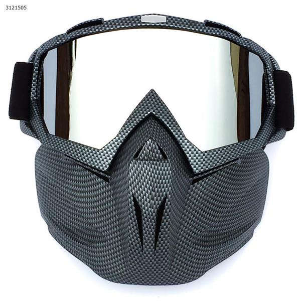 Motocross face mask goggles racing goggles outdoor riding glasses ski goggles(Serpentine frame mercury lens) Ski  skating equipment BF658