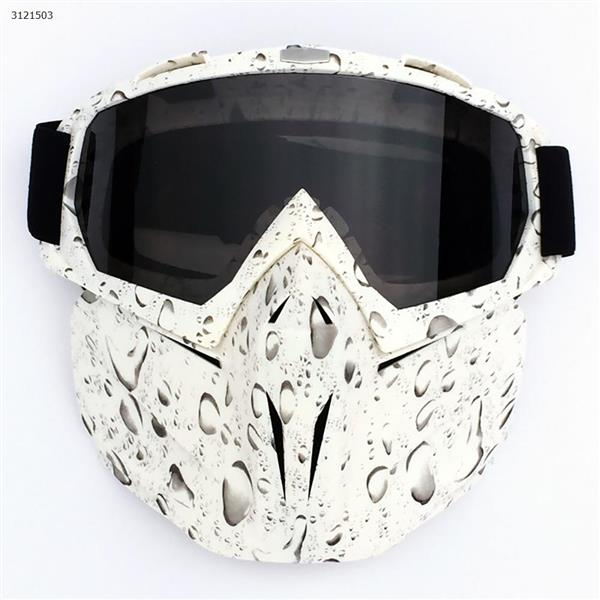 Motocross face mask goggles racing goggles outdoor riding glasses ski goggles(Drop frame gray lens) Ski  skating equipment BF658