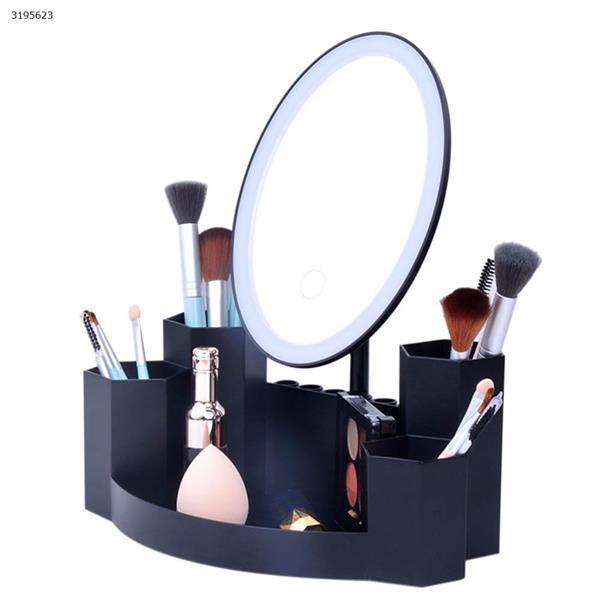 T5 Round LED Dual Side Makeup Mirror Magnifier Nightlight Lamp &  Storage Box monochromator Black Measuring & Testing Tools T5