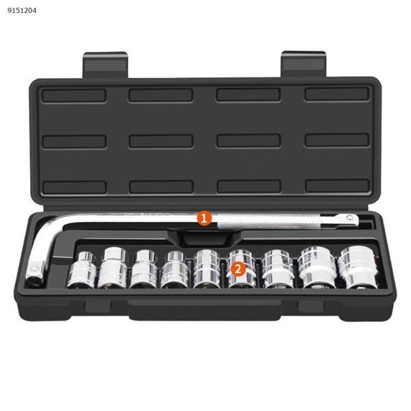 Auto repair toolbox set automobile repair repair repair repair sleeve wrench, 10 sets Auto Repair Tools N/A