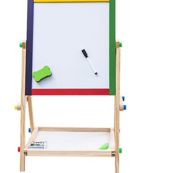Color solid wood twosided magnetic childrens drawing board easel writing board small blackboard support baby drawing board Other N/A