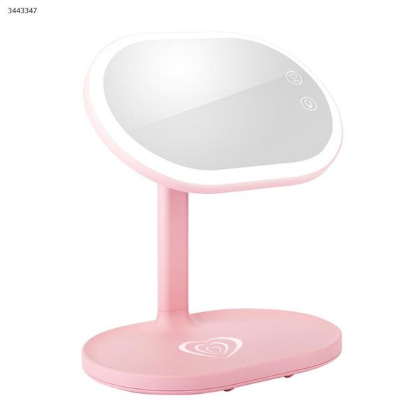 Wireless charging LED makeup mirror lamp, touch switch(LM-501 (Pink)) Makeup Brushes & Tools  LM-501