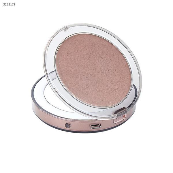 Touch sensor LED makeup mirror USB charging folding makeup mirror mini portable lamp makeup mirror(Rose gold) Measuring & Testing Tools CG1812