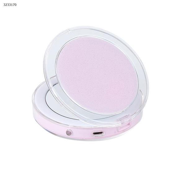 Touch sensor LED makeup mirror USB charging folding makeup mirror mini portable lamp makeup mirror(Pink) Measuring & Testing Tools CG1812