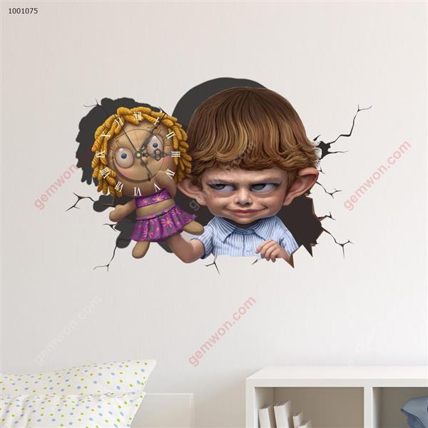 Wall Clock 3D  Sticker Home Room Decor Gift SZ075 3D clock sticker SZ075