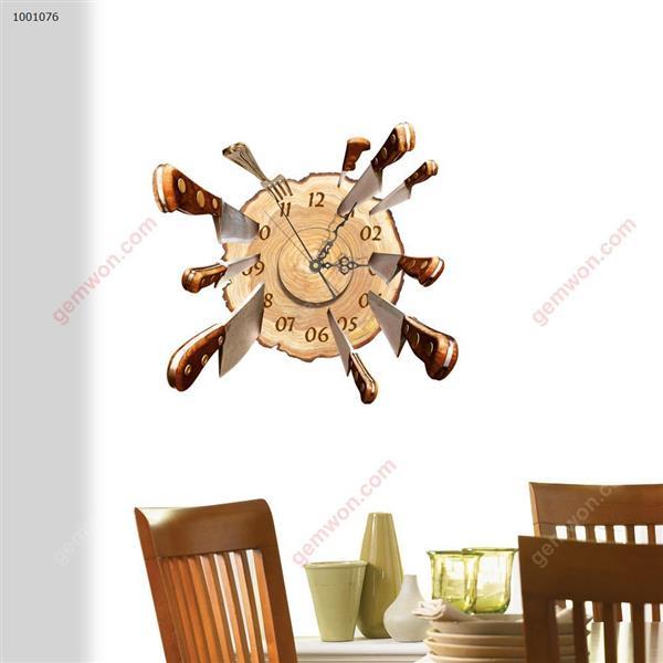 Wall Clock 3D  Sticker Home Room Decor Gift SZ076 3D clock sticker SZ076