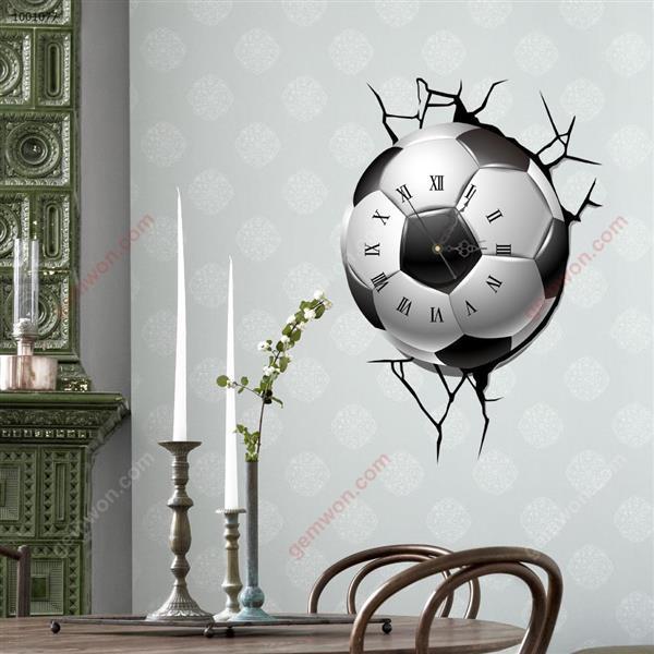 Wall Clock 3D  Sticker Home Room Decor Gift SZ077 3D clock sticker SZ077