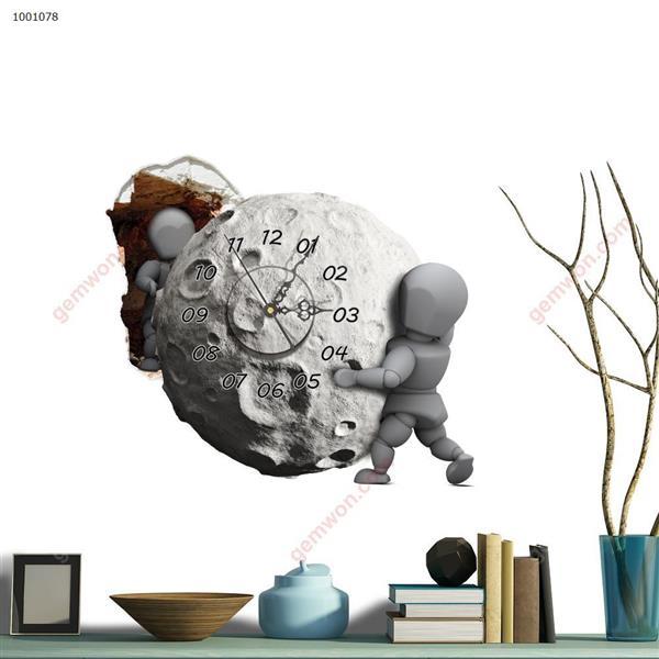 Wall Clock 3D  Sticker Home Room Decor Gift SZ078 3D clock sticker SZ078
