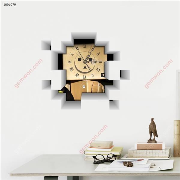 Wall Clock 3D  Sticker Home Room Decor Gift SZ079 3D clock sticker SZ079