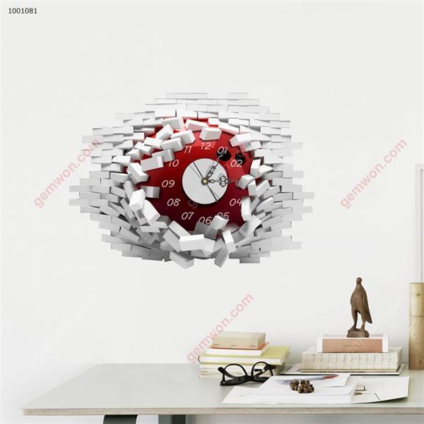 Wall Clock 3D  Sticker Home Room Decor Gift SZ081 3D clock sticker SZ081