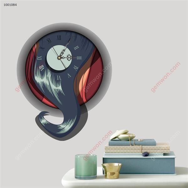 Wall Clock 3D  Sticker Home Room Decor Gift SZ084 3D clock sticker SZ084