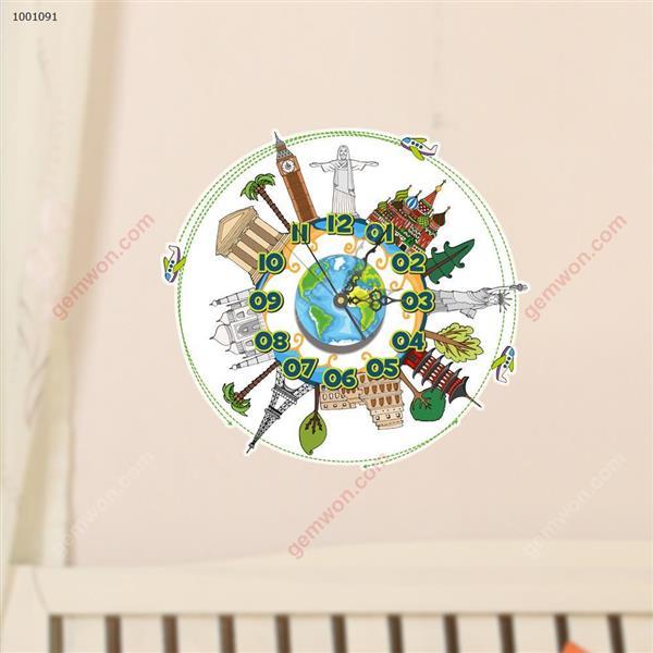 Wall Clock 3D  Sticker Home Room Decor Gift SZ014 3D clock sticker SZ014
