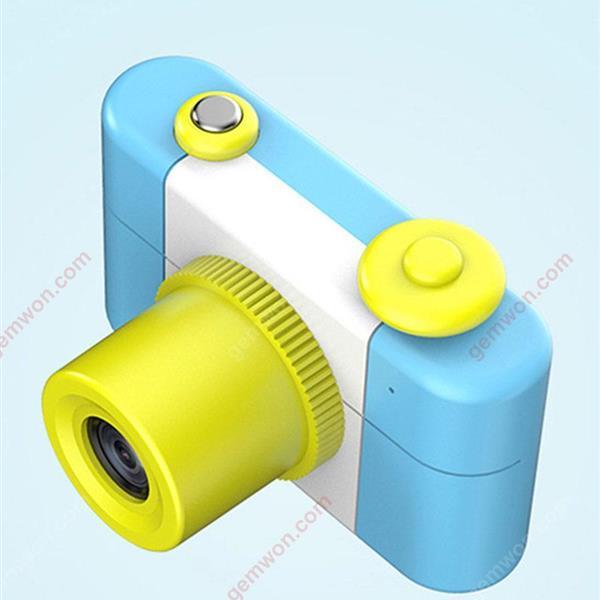 Three generations of children's cartoon digital camera small SLR motion camera,Blue standard (switchable language) Other switchable language