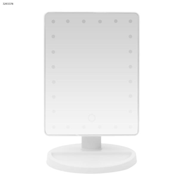 360°Rotating LED Touch Screen Large Makeup Mirror Desktop Mirror With 22 LED White Makeup Brushes & Tools  TD-06