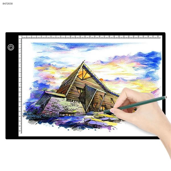 A4 copy table LED ultra-thin scale anime comics calligraphy sketch Linyi drawing tools(Promise dimming + USB power cord + US standard plug) Home Decoration JSK-AK4-2