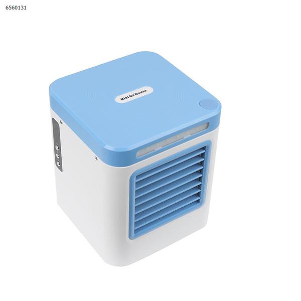 Portable Mini Air Cooler USB Negative Ion Small Air Conditioning Fan(cerulean) Home Decoration N/A
