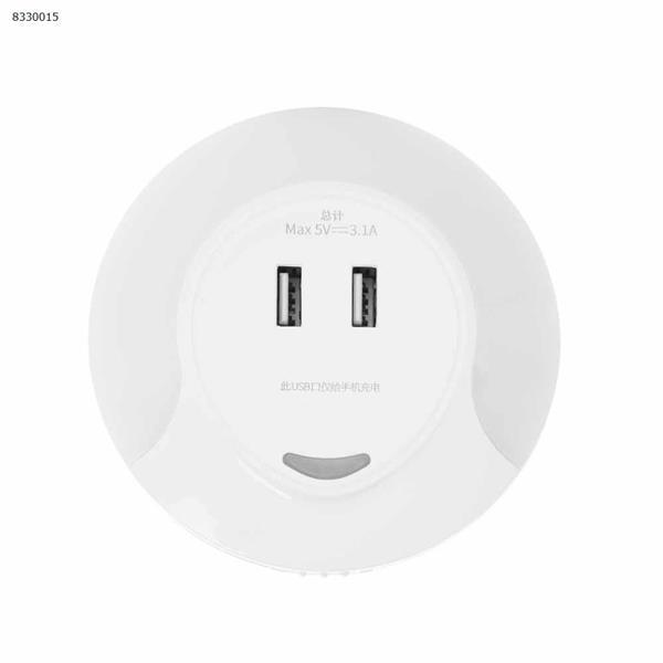 Creative smart double usb socket night light home light control led sensor light Smart LED Bulbs SU001