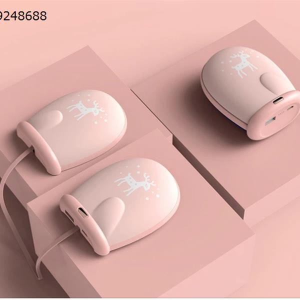 Winter Christmas Gloves Warm Hand USB Mini Portable Recharge Mobile Power(8000 mAh), pink Electronic Digital N/A