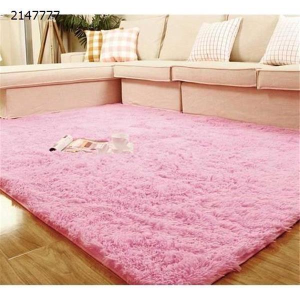 Modern minimalist carpet Living room coffee table carpet Fashion personality long hair washable bedroom bay window carpet pink carpet N/A