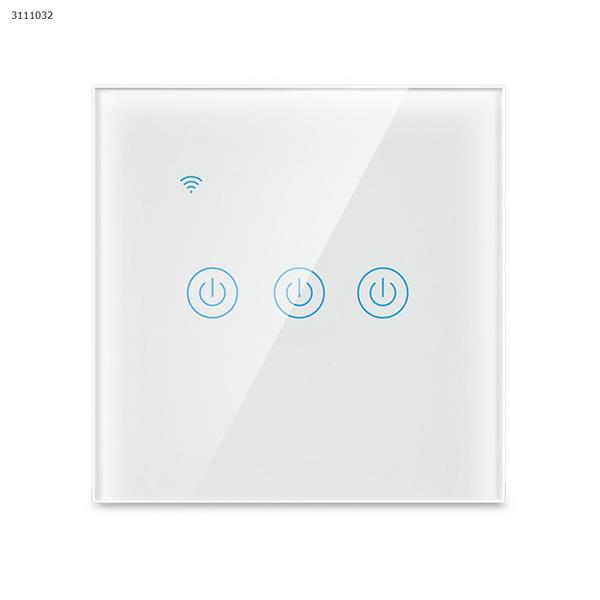Wifi smart wall switch three European standard mobile phone remote control intelligent wireless remote control voice timer switch Wall Switch DS-103-3