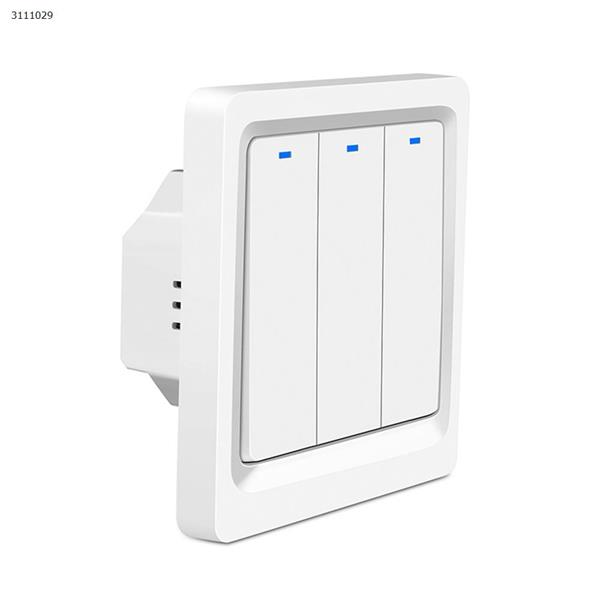 Smart home button switch wifi mobile phone remote control European standard switch 86 panel alexa voice control Wall Switch DS-102-3
