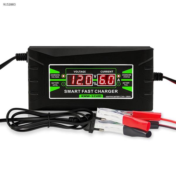 Three-stage pulse lead-acid battery charger dual display 12V6A current car battery charger(EU) Car Appliances KMW-KC06