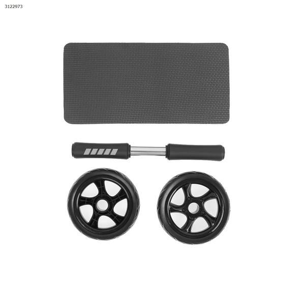 Two-wheel silent abdominal wheel, giant abdominal wheel rebound wheel, abdominal abs wheel(black) Exercise & Fitness RM-777