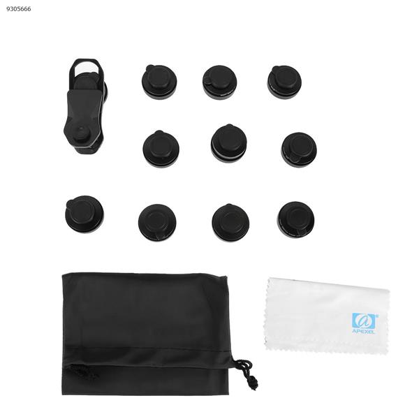 Multifunctional fisheye wide-angle macro polarized starlight gradient filter 11 in one set universal mobile phone lens (55mm) Lenses Accessories APL-DG11