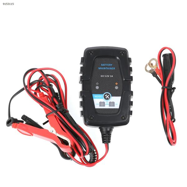6V12V 1A Smart Lead Acid Battery Charger Motorcycle Car Battery AGM Charger SAE Cable(US) Car Appliances N/A