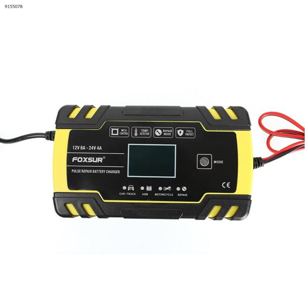 Motorcycle car battery charger 12V 24V truck repair charger AGM charger(EU) Car Appliances N/A