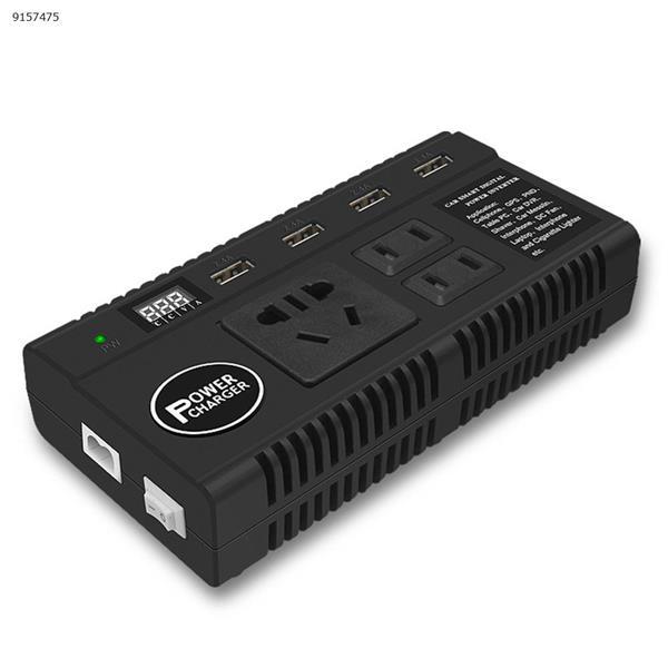 12V24V to 220V universal car inverter multifunctional car power converter socket USB charger Car Appliances W118